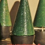 Juletræer malet i pose