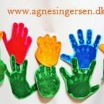 Håndblomster Fra Sjov Med Fødder Og Hænder