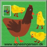 Høne og kyllinger