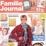 På forsiden af Familie Journalen