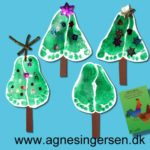 Juletræer med sne